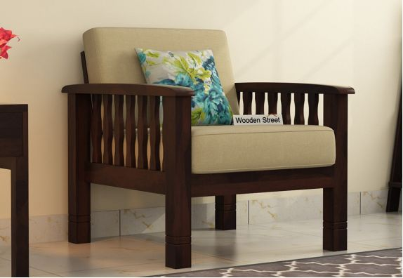Olympia 1 Seater Wooden Sofa