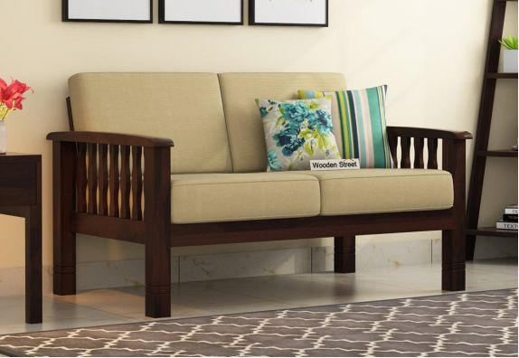 Olympia 2 Seater Wooden Sofa