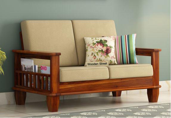 Quartz 2 Seater Wooden Sofa