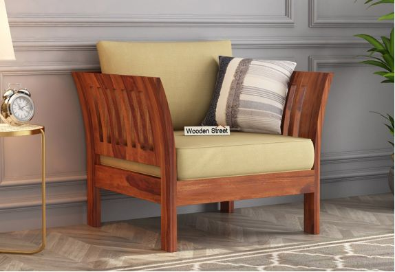 wooden sofa single seater