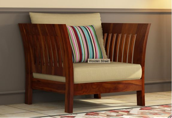 wooden sofa single seater