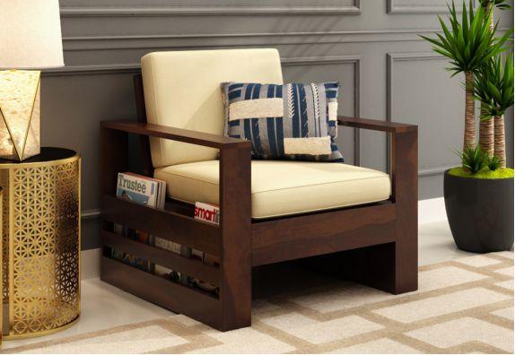 Winster 1 Seater Wooden Sofa Walnut finish