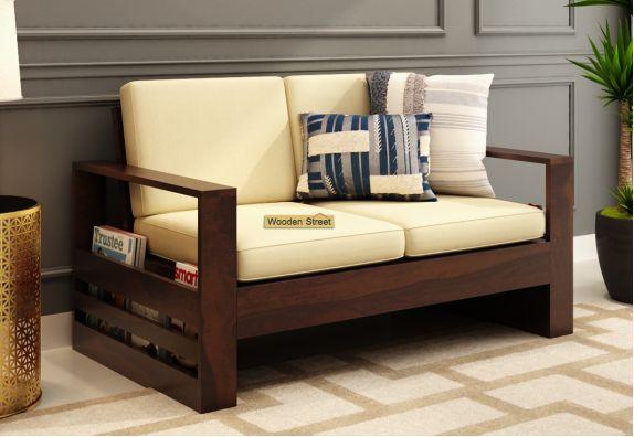 Winster 2 Seater Wooden Sofa Walnut finish