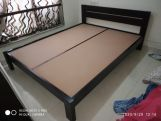 Review Denzel Bed without Storage (King Size, Honey Finish)