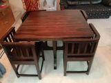 Review Cohoon 4 Seater Dining Set (Honey Finish)