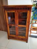 Review Adolph Small Kitchen Cabinet (Honey Finish)