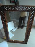 Review Cambrey Rectangle Mirror With Frame (Honey Finish)