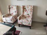 Review Joan Wingback Chair (Fabric, Cream Blossom)