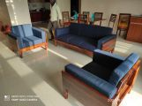 Review Messy 3 Seater Wooden Sofa (Walnut Finish)