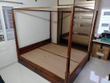 Review Wisker Poster Bed With Storage (Queen Size, Walnut Finish)