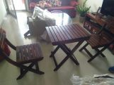 Review Myrick Balcony Table And Chair Set (Honey Finish)