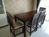Review Adolph 6 Seater Dining Set With Bench (Walnut Finish)