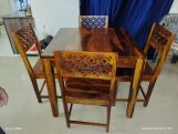 Review Cambrey 4 Seater Dining Set (Honey Finish)