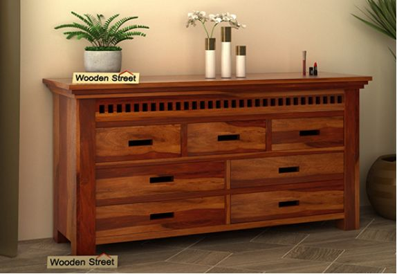 Wooden Chest of Drawers online India, dresser   latest wooden bedroom furniture designs