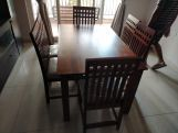 Review Ariana 6 Seater Dining Set (Teak Finish)