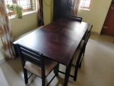 Review Advin 6 Seater Extendable With Bench Dining Set (Walnut Finish)