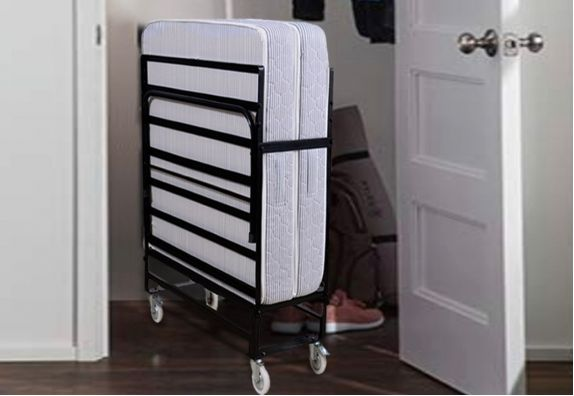 Folding Rollaway Bed with Mattress (6 inch, Single, 75 x 36)