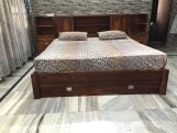 Review Harley Storage Bed with Bedside (Queen Size, Honey Finish)