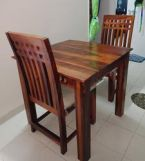 Review Adolph 2 Seater Dining Set (Walnut Finish)