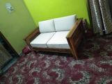 Review Agnes 1 Seater Wooden Sofa (Honey Finish)