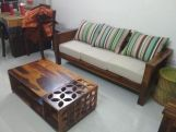 Review Agnes 2 Seater Wooden Sofa (Honey Finish)