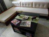 Review Cortez L-Shaped Wooden Sofa (Honey Finish)