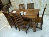 Review Ariana 6 Seater Dining Table (Honey Finish)