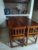 Review Cohoon 6 Seater Dining Set (Walnut Finish)