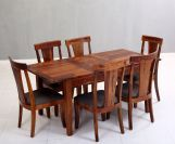Review Franco Extendable 6 Seater Dining Set (Honey Finish)