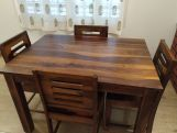 Review Janet 4 Seater Dining Table Set (Mahogany Finish)
