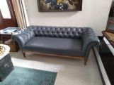 Review Swanson Chesterfield Sofa (Fabric, Indigo Ink)