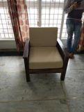 Review Olympia Wooden Sofa Set (Honey Finish)