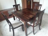 Review Mcbeth Storage 4 Seater Dining Table Set (Walnut Finish)