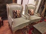 Review Adire Wingback Chair (Cotton, Bubble Robins)