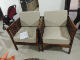 Review Raiden 2 Seater Wooden Sofa (Honey Finish)