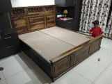Review Swirl Bed Without Storage (King Size, Honey Finish)
