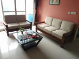 Review Quartz 2 Seater Wooden Sofa (Honey Finish)