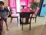 Review Ralph 4 Seater Dining Set with Storage (Honey Finish)