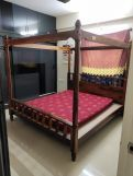 Review Allure Poster Bed Without Storage (King Size, Walnut Finish)