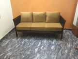 Review Raiden 3 Seater Wooden Sofa (Honey Finish)