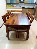 Review Mcbeth Storage 6 Seater Dining Table Set (Walnut Finish)