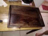 Review Ana Wooden Tray (Walnut Finish)