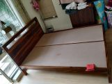 Review Bacon Bed without Storage (Queen Size, Walnut Finish)