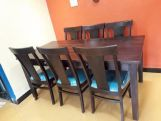 Review Mcbeth Storage 6 Seater Dining Table Set (Teak Finish)