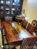 Review Adolph 6 Seater Dining Set (Honey Finish)