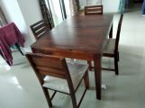 Review Advin 4 Seater Extendable Dining Set (Walnut Finish)