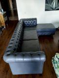 Review Henry L - Shape Right Aligned Corner Sofa (Velvet, Indigo Blue)