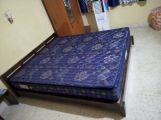 Review Rico Low Floor Bed (Queen Size, Walnut Finish)