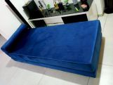 Review Corvis Fabric Sofa Cum Bed (Indigo Blue)
