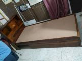 Review Felton Single Bed With Storage (Walnut Finish)